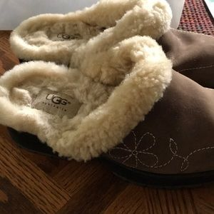UGG Shoes - Ugg Suede Clogs/Mules w/embroidery and lug soles